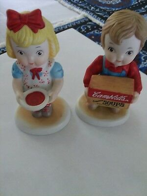1993 Campbell Kids pair of figurines