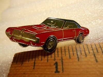 1967 Mercury COUGAR Car Lapel Pin (red & black)