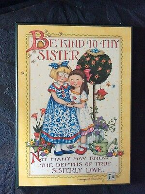 Mary Engelbreit Be Kind to Thy Sister Plaque Sign Decor Wall