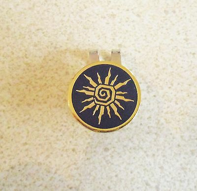 1 only DARK SUN GOLF BALL MARKER WITH NICE  HAT CLIP