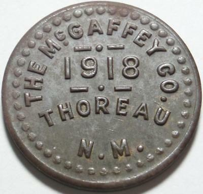 1918 THOREAU, NEW MEXICO Rarity 10, GOOD FOR 5¢ Navajo INDIAN TRADING POST Token
