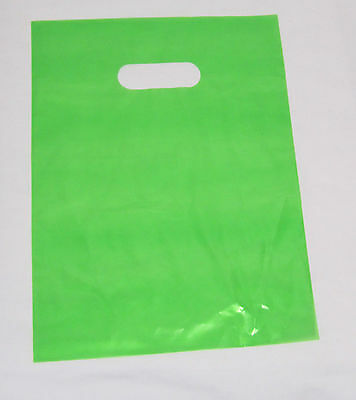 "200   12"" x 15"" LIME-GREEN GLOSSY Low-Density Plastic Merchandise or Party Bags"