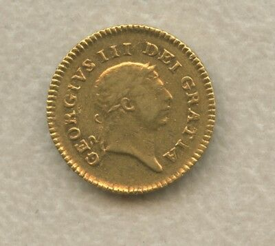 Great Britain 1806 Gold 1/3 Guinea George III Crown Above Date Reverse