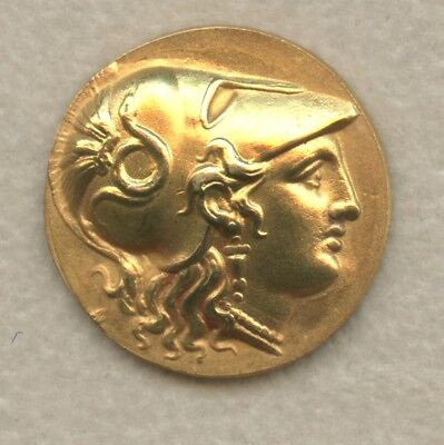 Alexander the Great Stater Style 23k Gold Coin- Full Imagery of Athena & Nike
