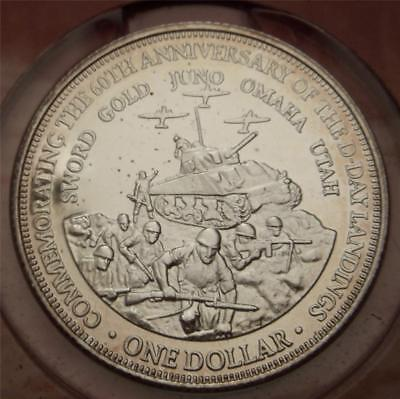 Amazing 2004 $1 Cook Island D-Day Memorial .999 Pure Silver Clad Coin Set!