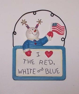 Sandi Gore Evans 4th of July / Patriotic Ornament - I Love the Red, White & Blue