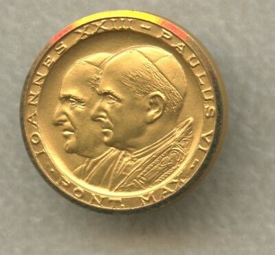Rare 18kt Gold Vatican City Pope Paul VI & Pope Joannes XXII Commemorative Medal
