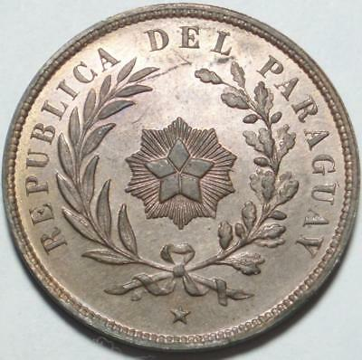 """1870 ONLY & The ONLY """"Centesimo"""" of PARAGUAY Beautiful ORIGINAL RED BROWN Copper"""