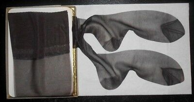 Lot Of 6 Jet Black Sealed Package Vintage First Quality Rht Sheer Stockings!!