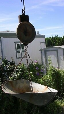 VINTAGE Rustic Country HANSON PRODUCE Dairy HANGING BALANCE SCALE 20 lb