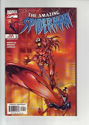 Amazing Spider-Man #431 (1998, Marvel) Carnage & Silver Surfer appearance