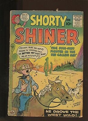 Shorty Shiner 2 GD+ 2.5 * 1 Book Lot * Golden Age Dandy Magazines 1956! Western!