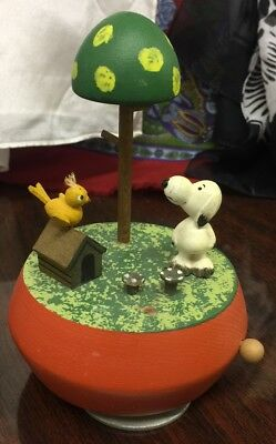 Vintage Anri  Of Italy Snoopy & Woodstock Musical - Plays Yellow Bird - Ufs