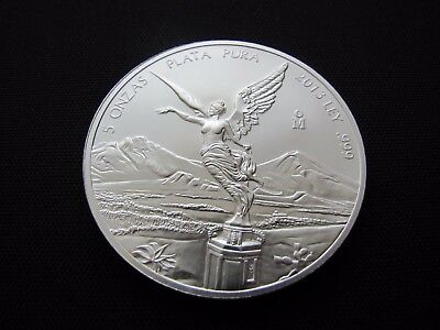 2013 5 oz. Mexican .999 Fine Silver Libertad Angel Coin