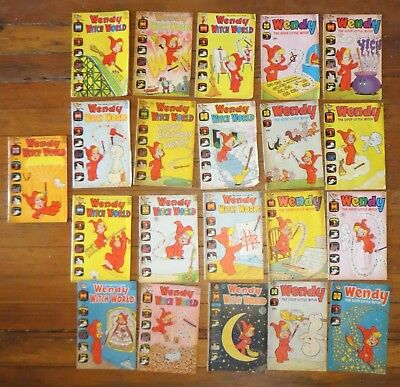 Lot of 21 Vintage Harvey Comics Wendy Witch World