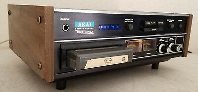 AKAI CR-81D 8-Track Tape Player/Deck & Recorder ~ Plays - WATCH VIDEO