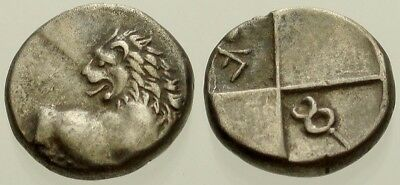 041. Greek Silver Coin. CHERSONESOS. AR Hemidrachm. Lion. VF
