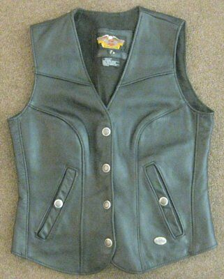 Harley Davidson Leather Motorcycle Vest *Excellent Condition