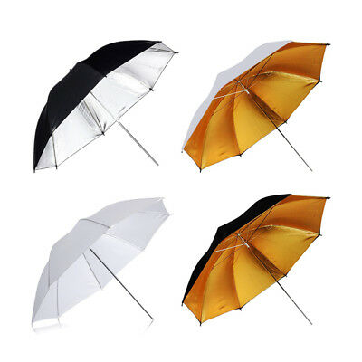 2 x Photography Studio Lighting Umbrella | White Translucent Golden Silver Refle