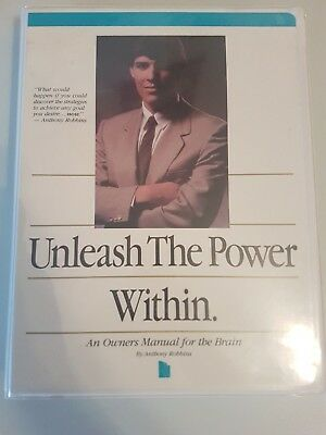 VINTAGE Anthony Tony Robbins Unleash The Power WIthin 4 Cassettes VHS  Workbook
