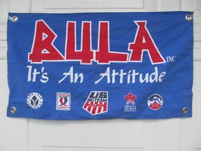 "Bula Winter Headwear Promo Wall Banner 28"" x 16"" GC"