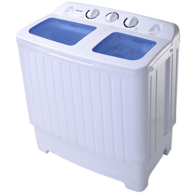 Quality Portable Mini Compact Twin Tub 17.6lb Washing Machine Washer Spin Dryer