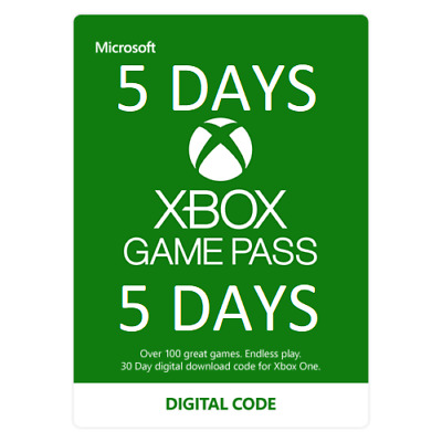 Microsoft XBOX GAME PASS 5 Day Code - Fast Digital Delivery - Get Sea of Thieves