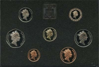 1987 Great Britain UK Deluxe Proof Coin Collection Royal Mint 7-Coin PROOF SET