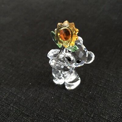 Swarovski Kris Bear with Sunflower  ESPECIALLY FOR YOU # 842934 READ DESCRIPTION
