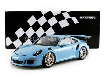 Minichamps 2015 Porsche 911 (991) GT3 RS Blue 1/18 Scale LE of 222 New!