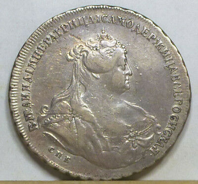Russia Rouble 1739 VF/Extremely Fine