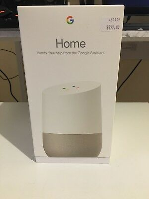 Google Home Smart Assistant - White Slate - AS NEW