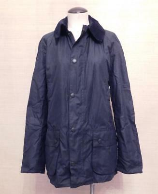 $399 Barbour x JCrew Collab Sylkoil Ashby Jacket L Navy Blue waxed cotton a0999