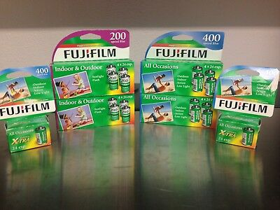 Mixed lot of 35mm Fuji Film Camera Film18 Rolls Expired & New 400 and 200 24exp.