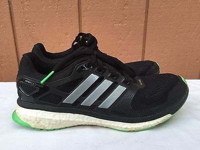 save off 68d7e 11880 EUC Adidas Energy Boost 2 ESM M Black Green Mens Jogging Running Shoes US  9.5