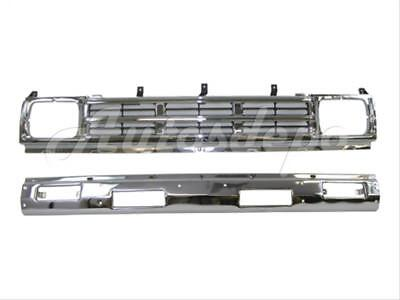 FRONT BUMPER CENTER BAR GRILLE CHROME W FILLER HOLE For 86 92 HARDBODY