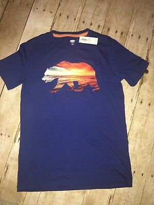 "Old Navy Boys Tee ""Ocean Bear"" Blue California Bear Design 10-12 Large NWT"