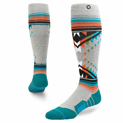 Stance Whitmore Grey Heather Mens 9-12 USA All Mountain Snowboard Socks