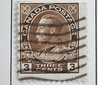 Canadian Stamp, Scott #108 F HH, 3 Cent Brown Admiral Issue