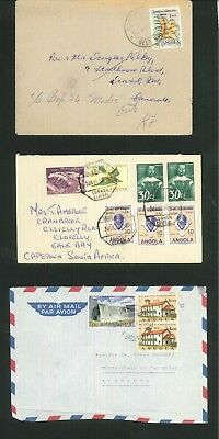 Angola - 3 items of commercial covers. (Inc airmail & 3x SG484 424 514 634 623)