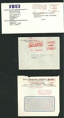 Algeria - 8 items of used commercial covers. (Inc SG816 & meter marked covers)
