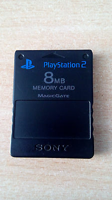 FMCB 1.953 /Genuine Sony PlayStation2 8MB Memory Card with Free Mcboot 1.953