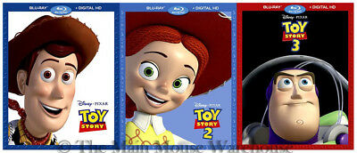 Disney Pixar Toy Story Trilogy Set 1 2 3 Movies Together Blu-ray & Digital Copy