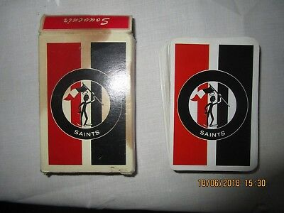 Deck of playing cards SAINTS AFL St Kilda 1980's In Great Condition