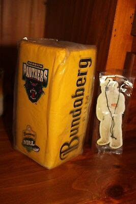 bundy, Bundaberg Rum PENRITH PANTHERS NRL Cooler NEW and  Air Freshener NEW