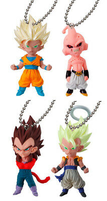 set 4 pcs Dragon Ball Figure Z Super UDM VJump 5 Bandai Keychain Goku Vegeta Buu