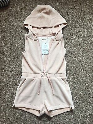 Next Girls Blush Towelling Playsuit - Age 2-3