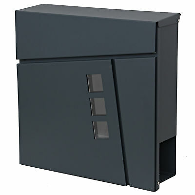 designer briefkasten edelstahl anthrazit ral 7016 grau schwarz zeitungfach 333 eur 19 99. Black Bedroom Furniture Sets. Home Design Ideas