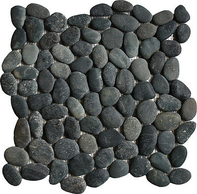 Sample Black  Pebble Mosaic wall floor tiles perfect for wet rooms & showers