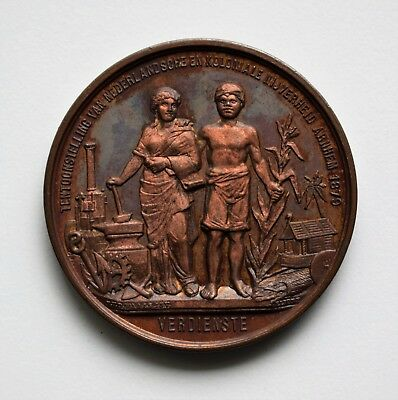 Netherlands: Dutch Colonial Exhibition Medal, 1879. Locks & Safes.